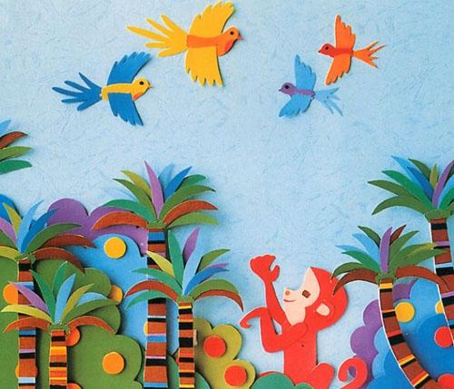 """可爱的动物之类的宣传性的儿童画   (2)""""连环画""""类墙饰   幼儿看完每"""