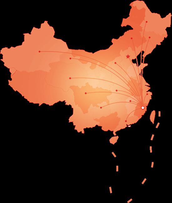 合作分布地图